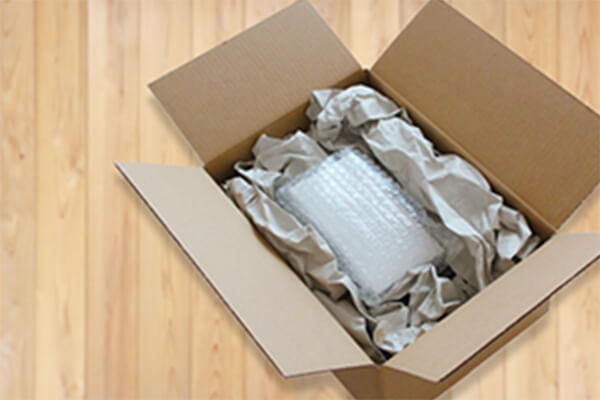 商品梱包の際、壊れないよう梱包のご用意をお願いいたします。