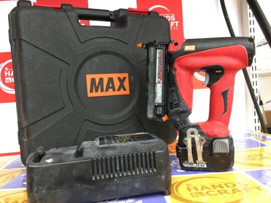 MAX マックス 充電式ピンネイラ TJ-35P2-BC/40A 中古 本体バッテリー充電器セット品 14.4V 【ハンズクラフト福岡インター店】